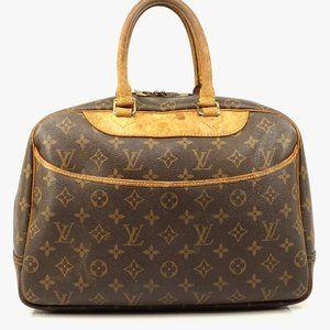 Auth Louis Vuitton Deauville Satchel #2703L17